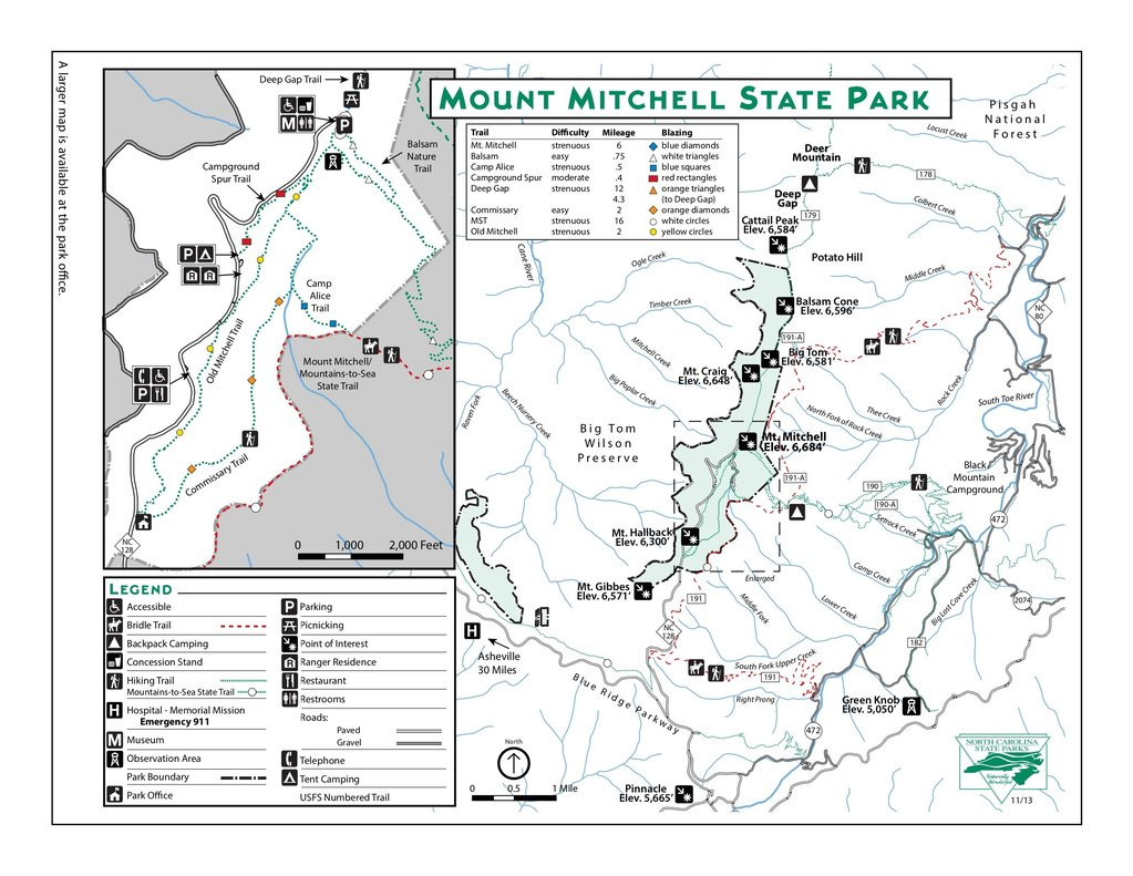 mt mitchell hiking